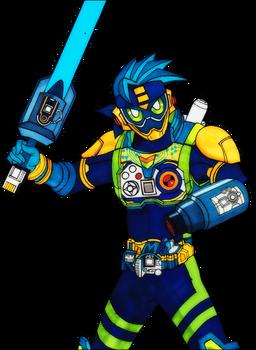 Kamen Rider Ex Aid Megaman Gamer - WIP
