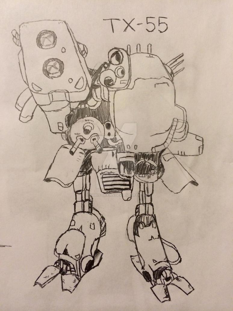 TX-55 Metal Gear Sketch By Chris-Draws On DeviantArt