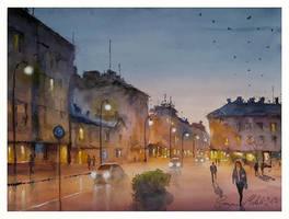 NIght in Kotka City by sampom