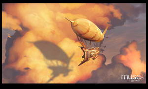 Airship in the Clouds