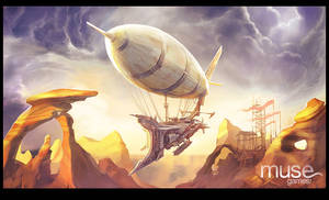 Airship in the Wastes
