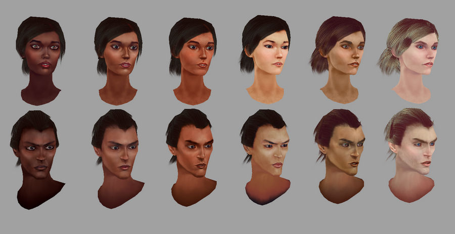 Character - Skin Tone Test by musegames on DeviantArt