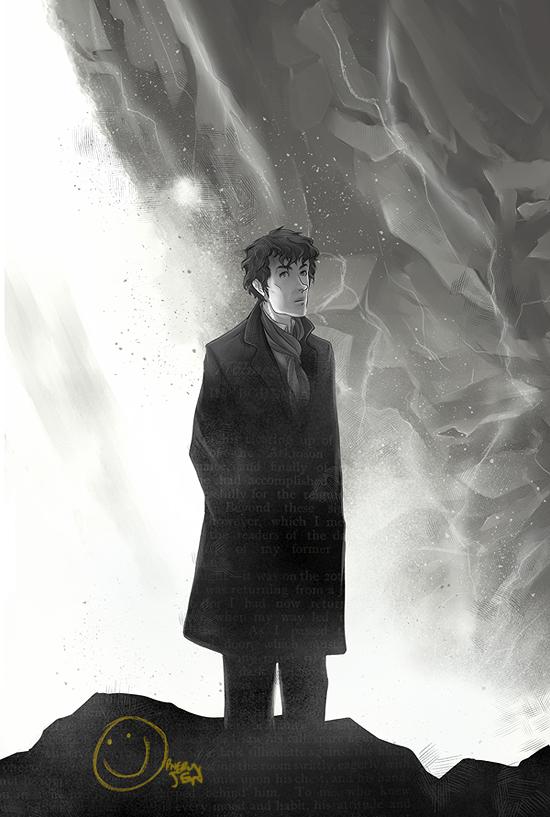 Sherlock - Reichenbach Falls by OrneryJen