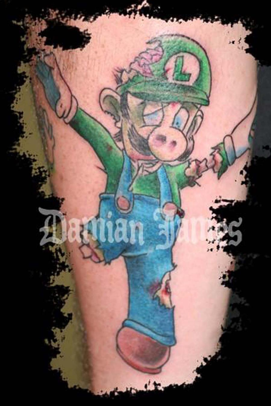 Zombie Luigi by Damianink