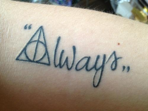 Harry Potter Tattoo by gracelinroses