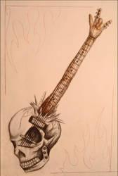 Skull Guitar by z-e-a-l-o-u-s