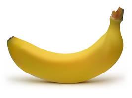 Gradient Mesh Banana by kokorostudio