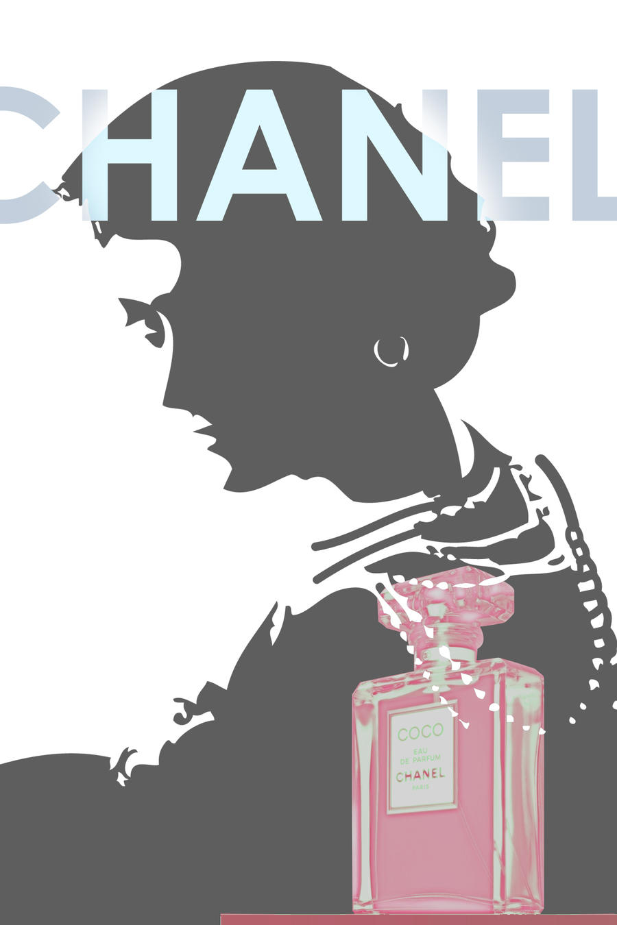Coco Chanel Advertisement 2 by kokorostudio