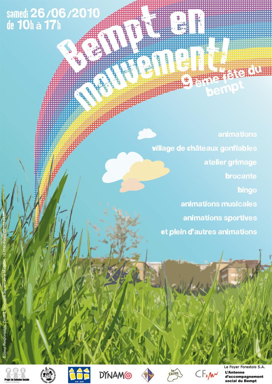 'Fete du Bempt' Poster by kokorostudio