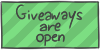 Giveaways are open by WizzDono