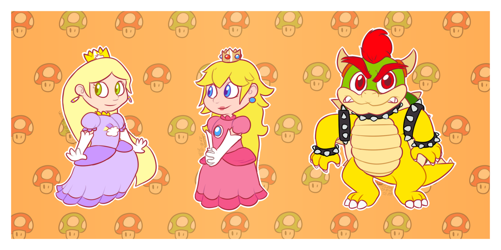 RQ - Amber Peach Bowser by WizzDono