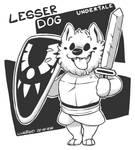 Undertale - Lesser Dog by WizzDono