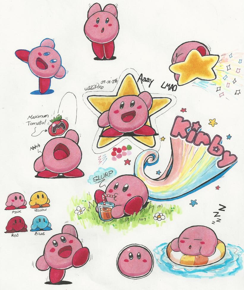 Kirby doodles by WizzDono