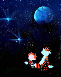 Calvin and Hobbes by Khaleesi777