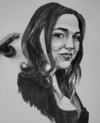 Self portrait in ink by Khaleesi777