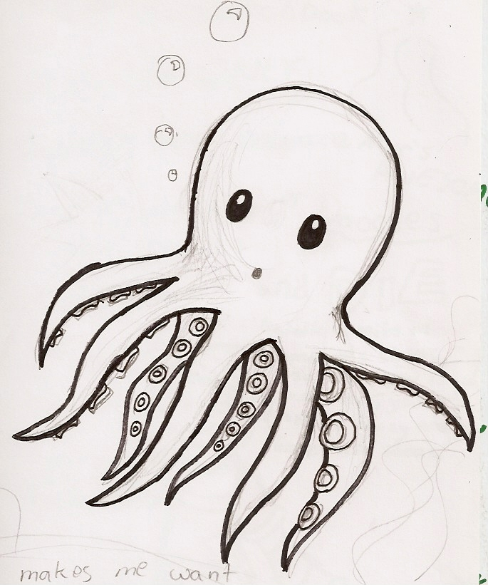 baby octopus by murdererdelacroix