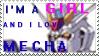 Female Mechafan's Stamp