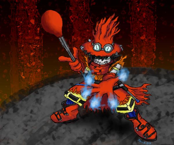 FlameWizardmon - Inferno by MurdererDelacroix