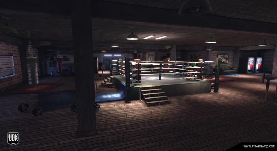 Boxing Gym by pmargacz Empty Gym Wallpaper