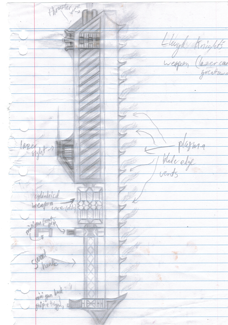 Plasma Cannon/greatsword concept by TheThousandthSun