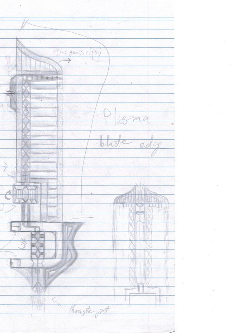 One Handed original sketch by TheThousandthSun