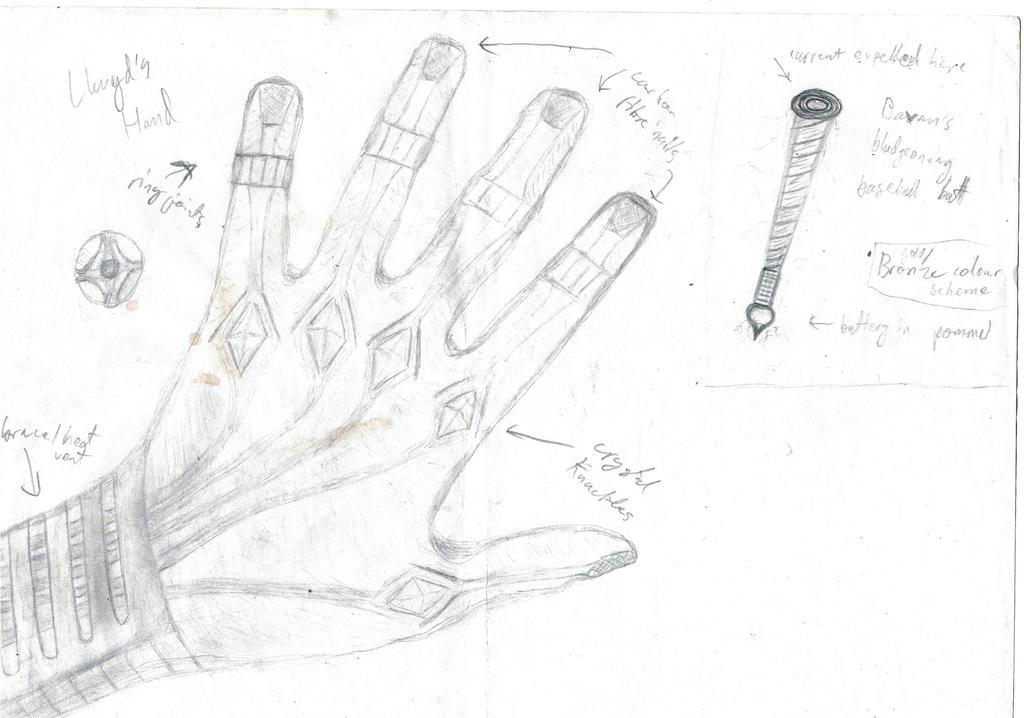 Llwyd's hand original sketch by TheThousandthSun