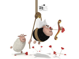Cupid Sheeps 1600x1200 by bsign
