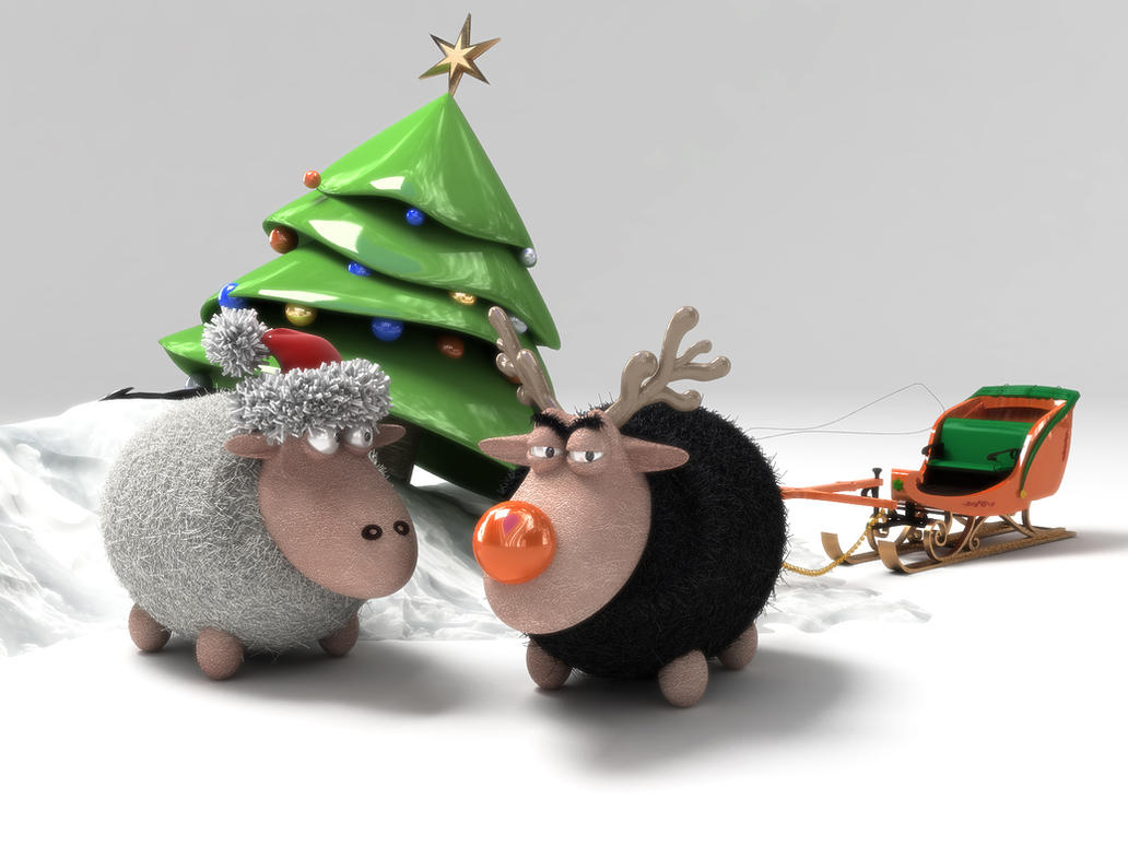 xmas sheepbsign on deviantart
