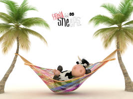 A Cow's Holiday by bsign