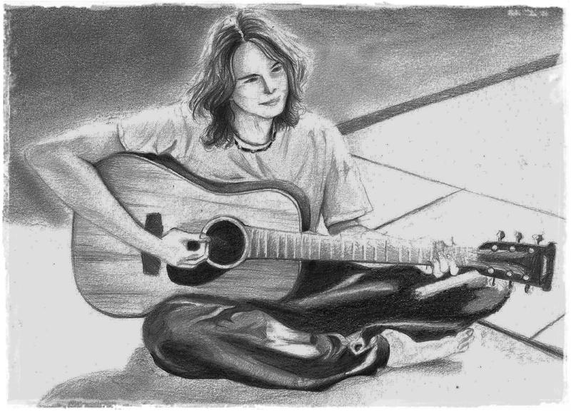 Guitar boy by Aramisa on DeviantArt Boy With Guitar Drawing