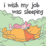 Pooh and piglet Napping on a hammock