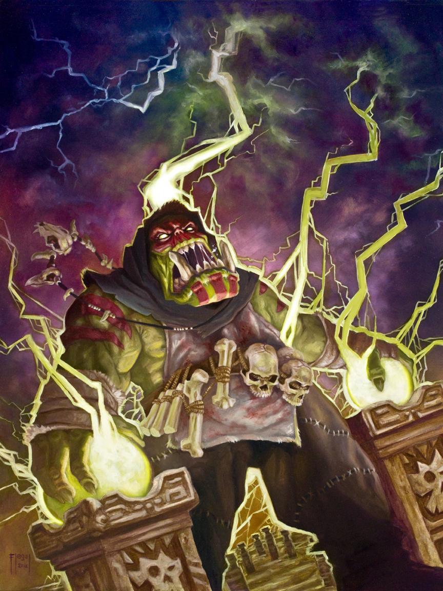 Warhammer Orc Shaman - Red Faced Zappa by samflegal