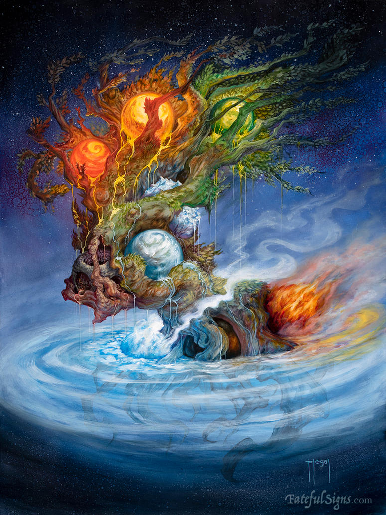 Yggdrasil, the World Tree by samflegal