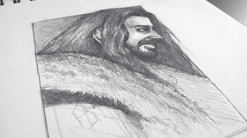 Thorin Oakenshield - work in progress by Deaglety