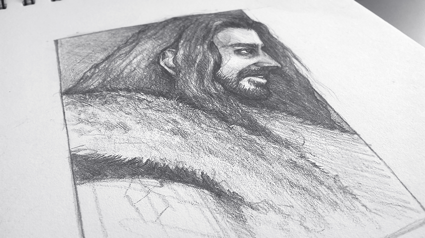 Thorin Oakenshield - work in progress by Deaglety