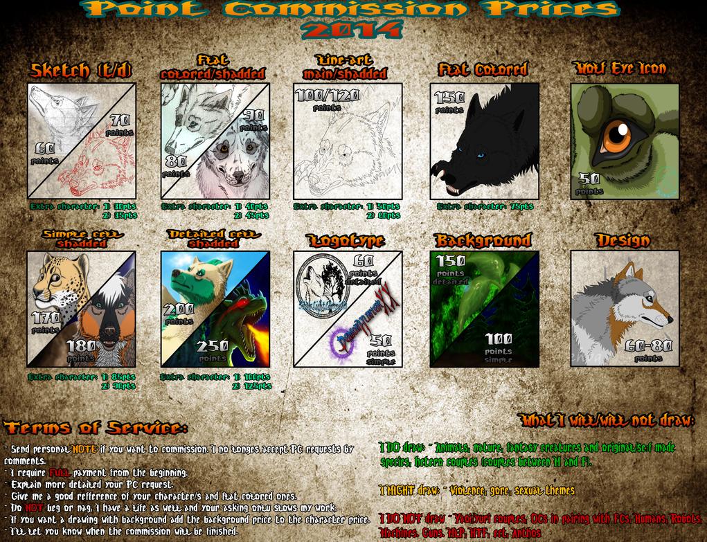 PC Prices (UPDATE 2014) + Art-Status (READ DESCR.) by ShizukaTW