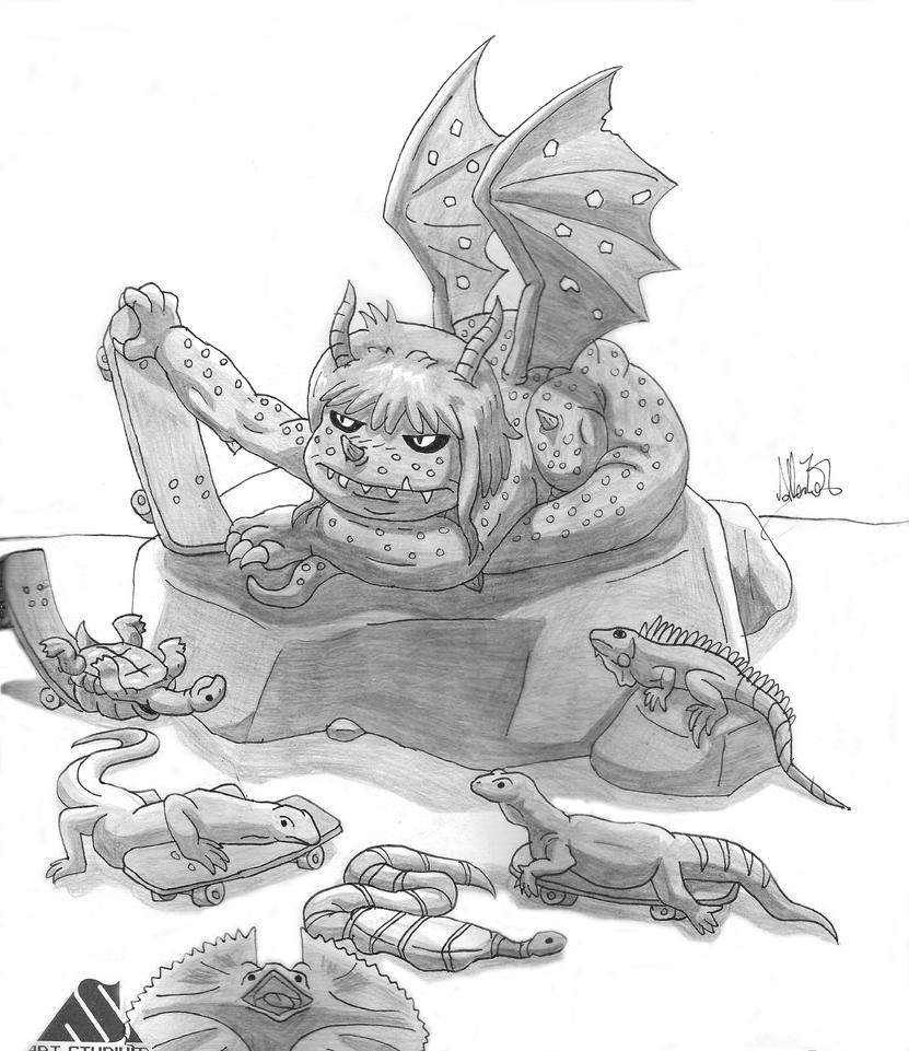 Little hoard of reptiles by InfinityVoid