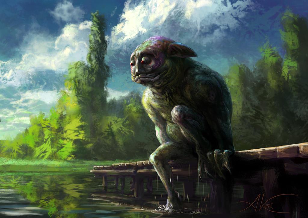 Utopiec - Water demon by AleksanderKarcz