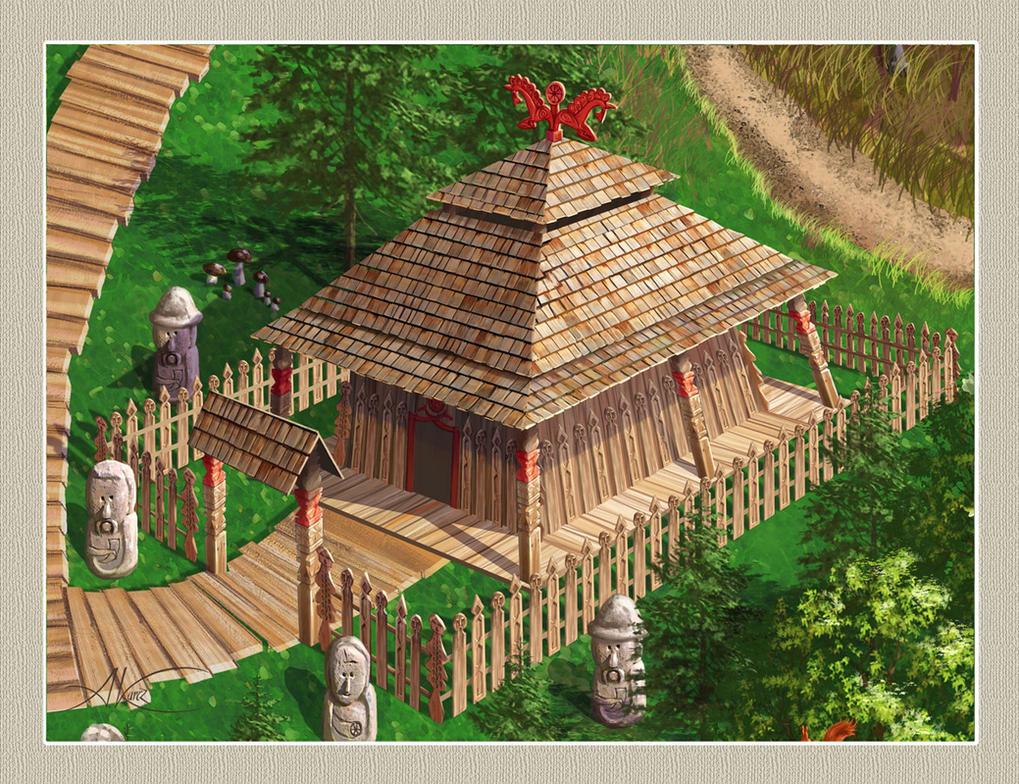 Temple of Slavic Deity Swarozyc by AleksanderKarcz