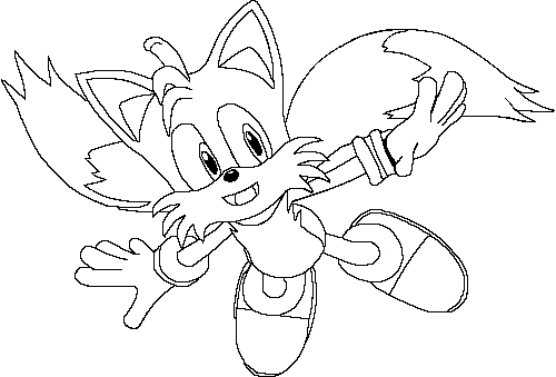 Tails coloring page v2 by lightspeedangel on deviantart for Sonic tails coloring pages