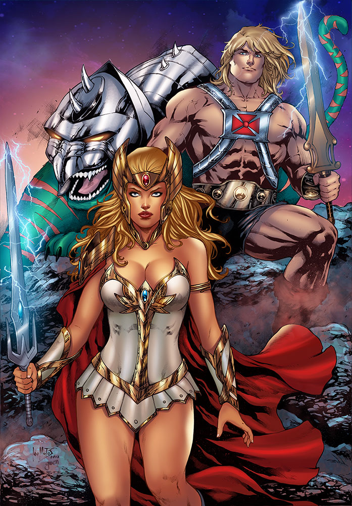 She-Ra He-Man and Cringer by Gwendlg