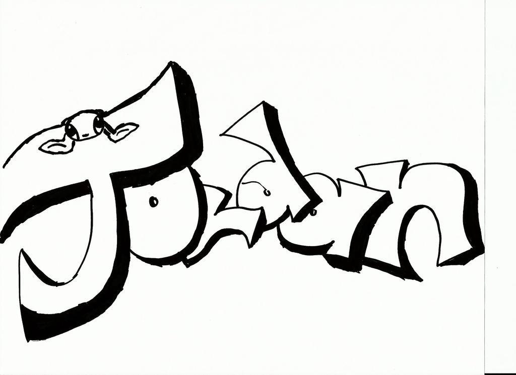 nombre jordan en graffiti