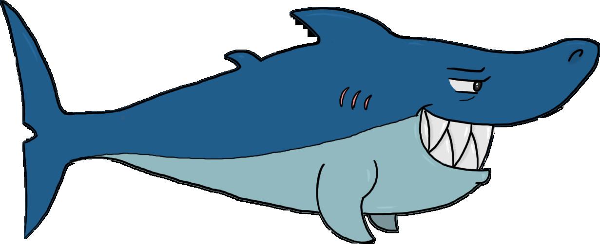 Cartoon Shark by PugWizer on DeviantArt