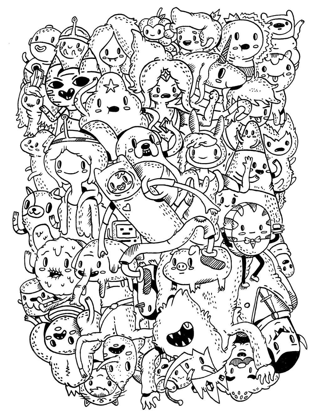 Adventure time раскраска