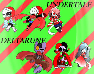 Merry Christmas! Undertale  Deltarune Chibi) by kitty4288