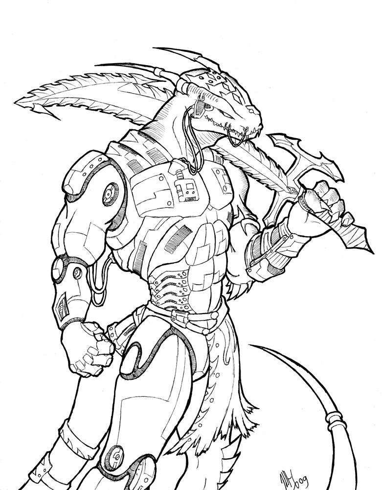 Anthro Dragon Boy Cyborg Anthro Dragon by