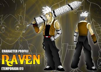Ficha de personaje estilo RPG - Raven by BoNoi