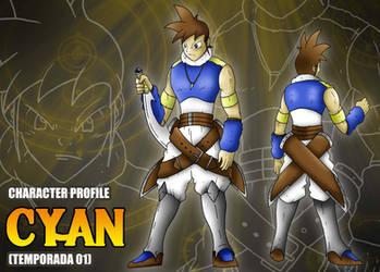 Ficha de personaje estilo RPG - Cyan by BoNoi