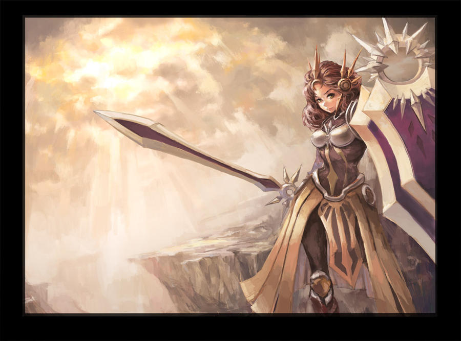 League of Legends---Leona by TEnmoom on DeviantArt