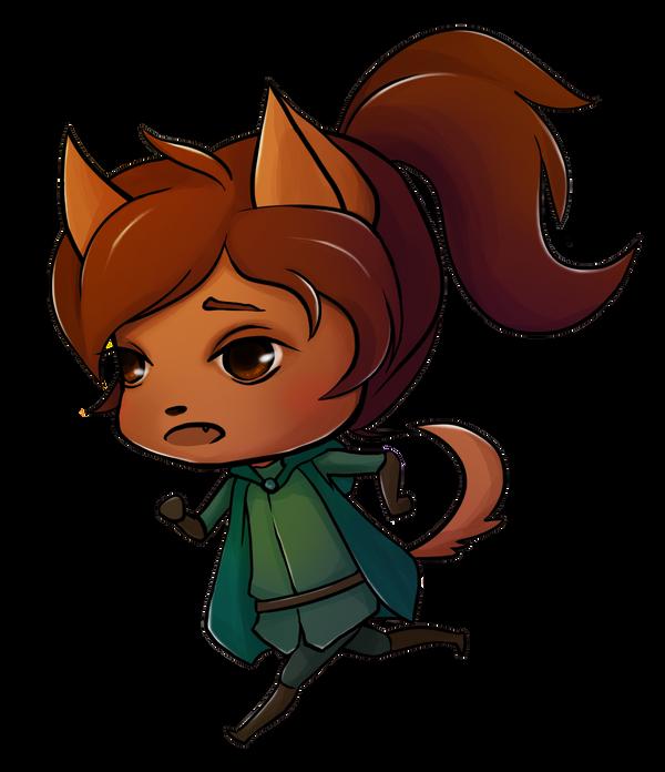 Io Chibi Running by kyndling